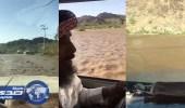 بالفيديو.. ولي أمر طالب ينقذ معلمين من السيول في بيشة