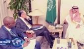 الجدعان يناقش أزمة الأمن الغذائي و إعادة إعمار اليمن مع رئيس البنك الدولي