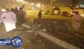 إصابة قائد مركبة انشطرت نصفين في حادث مروري ببلجرشي
