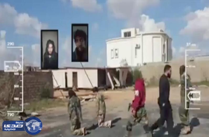 الصاعقة الليبية تعدم إرهابيين رميا بالرصاص