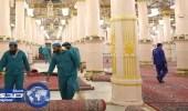 تغيير 400 سجادة بالمسجد النبوي استعدادا لشهر رمضان