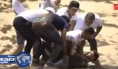 بالفيديو.. كهربا ومؤمن زكريا يضربان رامز جلال