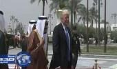 بالفيديو والصور.. الرئيس الأمريكي يصل قصر اليمامة بالرياض