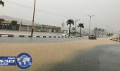 أمطار غزيرة تتسبب في انقطاع الكهرباء بالبشائر