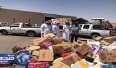 بالصور.. بلدية طريف تغلق ٨ محال وتصادر وتتلف ١١طن و٦٣١ كيلو مواد غذائية فاسدة