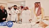 أمير المدينة المنورة يزور الشيخ أبو بكر الجزائري