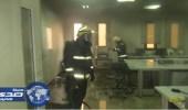 بالصور.. إصابة عامل في حريق بجامعة القصيم