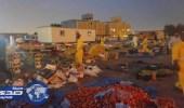 بالصور.. مصادرة 13 طنًا من الخضراوات والفواكه في الرياض