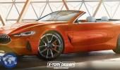 BMW الفئة الثامنة التجريبية تبدو مغرية كسيارة مكشوفة