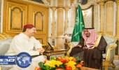 خادم الحرمين يستقبل وزير الشؤون الخارجية المغربي