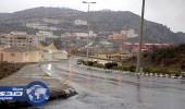 أمطار متفرقة على منطقة الباحة