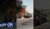 """بالفيديو.. مصرع سائق سيارة """" بنتلي """" في حادث مروع على طريق صلبوخ"""