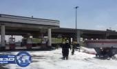 بالفيديو.. مقيم مصري ينقذ محطة وقود من الاشتعال