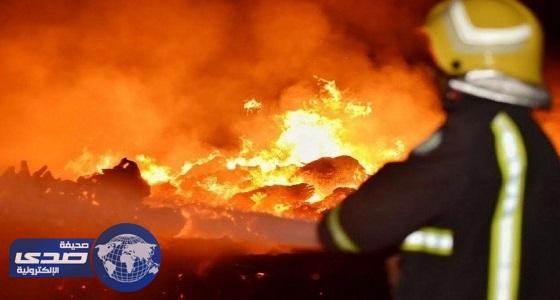 مدني حائل يخمد حريق مخلفات الأشجار بحي قفار
