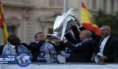 ريـال مدريد يحتفل بلقب دوري الأبطال في مقر حكومة العاصمة الإسبانية