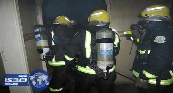 الدفاع المدنى يخمد حريق في شقة سكنية بحي الخالدية