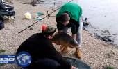 بالفيديو.. سمكة تخدع صيادا