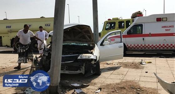 خمسة إصابات في حادث تصادم جنوب جدة