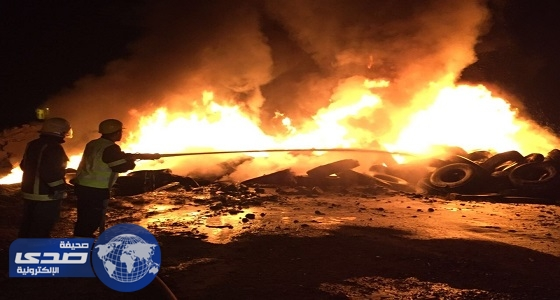 بالفيديو والصور.. مدني عسير يسيطر على حريق هائل شمال أبها
