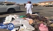 بلدية طريف تغلق ٣محلات وتصادر وتتلف ١.٥ طن من التمور الفاسده