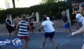 بالفيديو والصور.. معركة شوارع عنيفة بين مشجعين ألمان