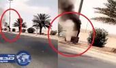 """بالفيديو.. احتراق الرصد الآلي """" ساهر """" على طريق رفحاء"""
