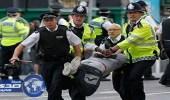 إصابة شرطي في لندن بعد احتدام الاحتجاجات