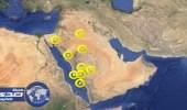 8 مناطق في المملكة تتعرض لرياح نشطة وأتربة