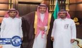 """أمير الباحة يستقبل """" الزهراني """" مصاب الحد الجنوبي"""