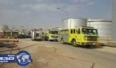 نشوب حريق في أنابيب وقود بشركة كهرباء عنيزة