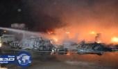 """بالصور.. """" مدني الرياض """" يُخمد حريقًا بمستودعات """" السلي """""""