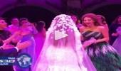 بالفيديو.. رقصة طريفة لعروس مع ميريام فارس بحفل زفافها