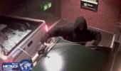 بالفيديو.. لصوص يحاولون سرقة صراف آلي