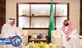 نائب خادم الحرمين يستقبل عبدالله بن علي آل ثاني