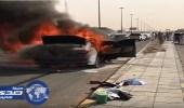بالفيديو.. مواطن يصور احتراق سيارته بالرياض
