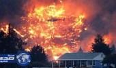بالفيديو.. حرائق كولومبيا تشرد 1300 شخص في كندا