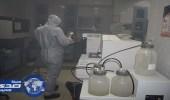 بالصور.. الدفاع المدني يباشر حريقًا في مختبر مستشفى بالرياض