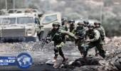 بالصور.. اشتباكات بين متظاهرين فلسطينيين وقوات الاحتلال الإسرائيلى