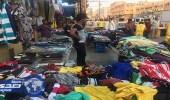 بالصور.. مصادرة 72 بسطة ملابس في حملة على مواقع للباعة الجائلين بالرياض