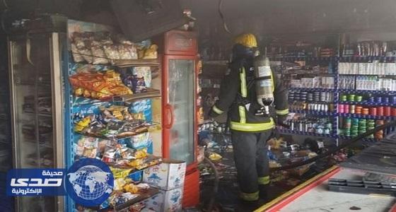 السيطرة على حريق بمركز تموينيات غذائية بالطائف