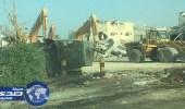 بالصور.. أمانة الشرقية تنتهي من أعمال الهدم في المسورة