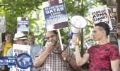 قطر تفشل في شراء متظاهرين لدعمها أمام الأمم المتحدة