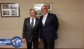 الربيعة يلتقي ممثل مصر لدى الأمم المتحدة