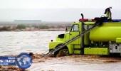 إنقاذ 6 أشخاص احتجزتهم مياه الأمطار بين تربة ورنية