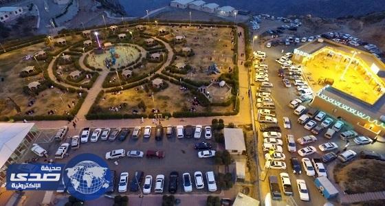 منتزه الأمير محمد بن سعود برغدان يشهد إقبالاً مكثفاً للزوار