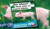حزب ألماني يسحب بوستر معاديًا للإسلام ويواصل التطاول عليه