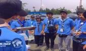 بالصور.. جوالة جامعة الباحة يقدمون خدماتهم لحجاج بيت الله الحرام