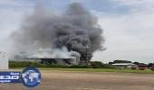 بالصور.. انفجار قرب مطار ساوثند بلندن