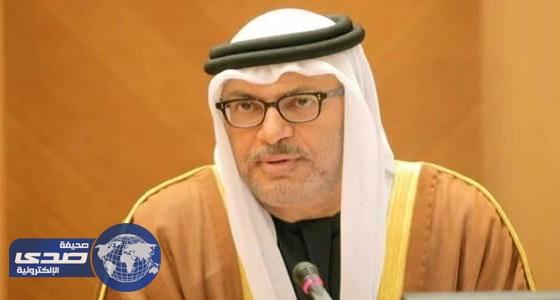 وزير خارجية الإمارات يتهم قطر بصناعة المليشيات الإرهابية