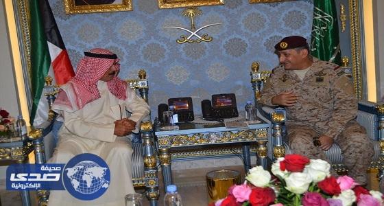 قائد القوات البرية يستقبل وزير الدفاع الكويتي